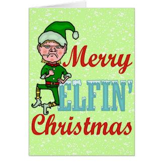 Funny Merry Elfin Christmas Bah Humbug Card