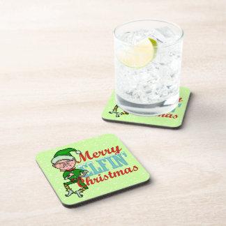 Funny Merry Elfin Christmas Bah Humbug Coaster