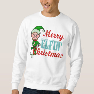 Funny Merry Elfin Christmas Elf Pun Ugly Sweatshirt