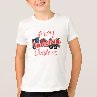 Funny Merry Truckin Christmas T-Shirt