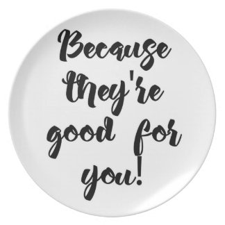 Funny message plate