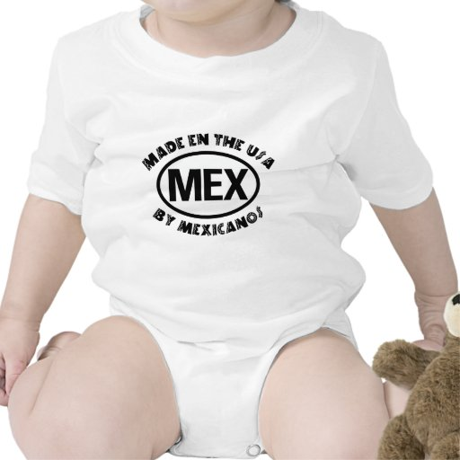 Funny Mexican Made In The USA Baby Bodysuit