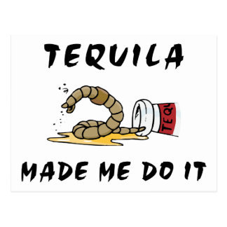 Funny Mexican Tequila Postcard