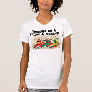 Funny Mexican Tequila Sunrise Ladies T-Shirt Tshirts