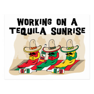Funny Mexican Tequila Sunrise Postcard