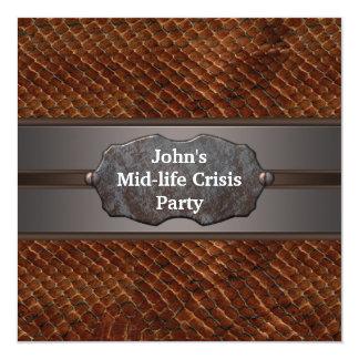 Funny Mid Life Crisis Mans 40th Birthday Party 13 Cm X 13 Cm Square Invitation Card