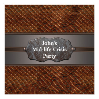 Funny Mid Life Crisis Mans 40th Birthday Party Invitation