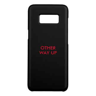 Funny mobile case saying 'other way up'