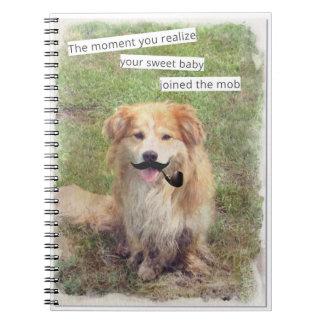 Funny Mobster dog Journal Spiral Note Books