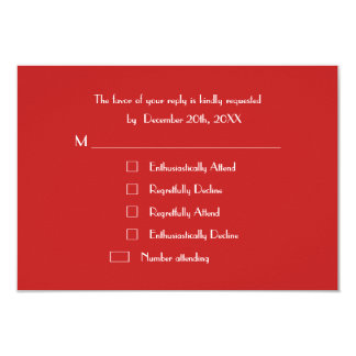 Funny Modern Custom Holiday Christmas Party RSVP Card