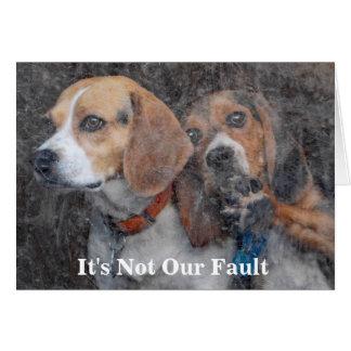 Funny Mom Doesn't Do Windows Beagle Card