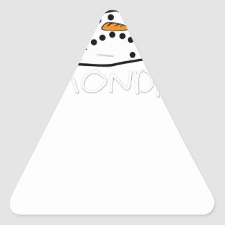 Funny MONDAYS MELTING SNOWMAN Triangle Sticker