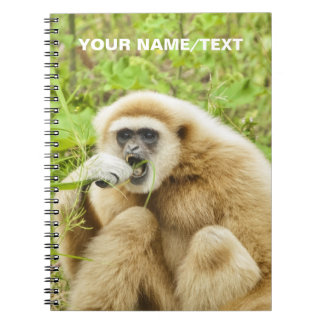 Funny Monkey Animal Personalized Name Spiral Notebooks