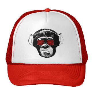 Funny monkey trucker hat