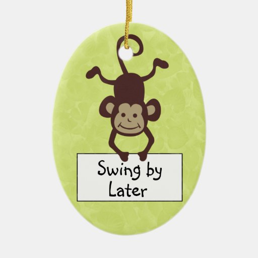 Funny Monkey Door Hanger Christmas Ornaments