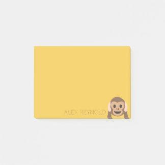 Funny Monkey Emoji | Custom Name Post-it Notes