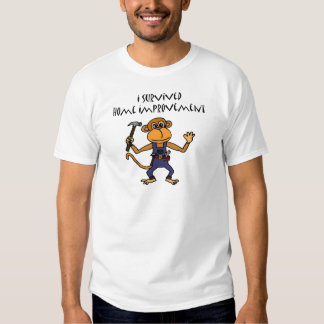Funny Monkey Handyman Cartoon T-shirt