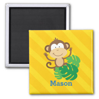 Funny Monkey in the Jungle Personalized Magnet