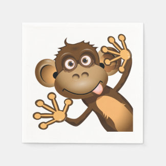 Funny Monkey Paper Napkins Disposable Napkin