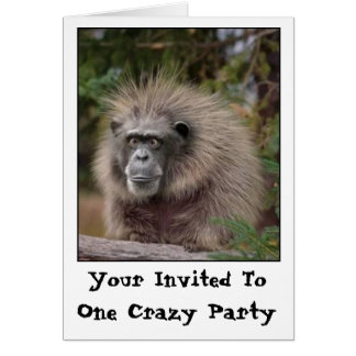 Funny Monkey Party Invitation