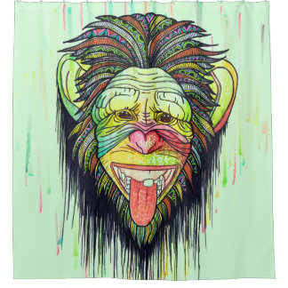 Funny Monkey Shower Curtain
