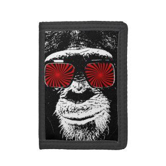 Funny monkey trifold wallets
