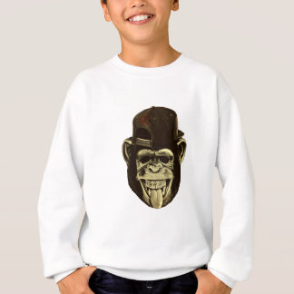 Funny Monkey with Hat Sweatshirt