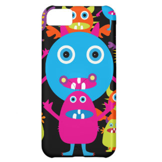Funny Monster Bash Cute Creatures Party iPhone 5C Cases
