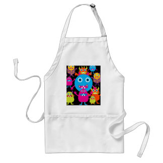 Funny Monster Bash Cute Creatures Party Standard Apron