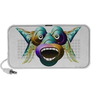 Funny Monster Character Portrait iPod Speaker