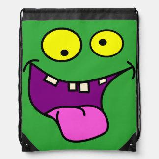 funny monster face,kids drawstring bag