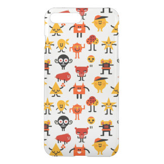 Funny monsters pattern iPhone 7 plus case
