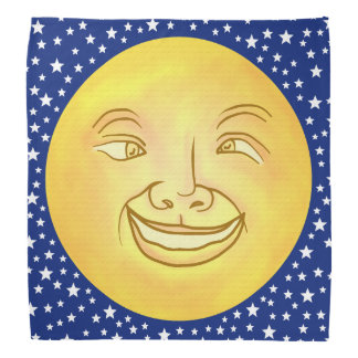 Funny Moon Man Outer Space Vintage Bandana