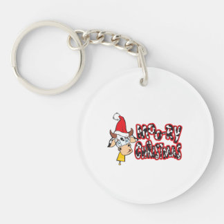 Funny Moory Christmas Cow Moo-ry Watches Stickers Acrylic Key Chain