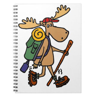 Funny Moose Hiker Notebooks