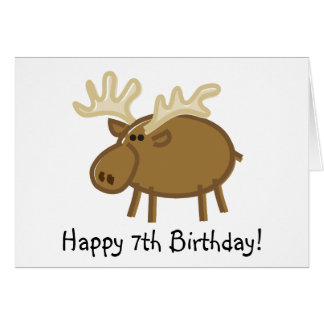 Funny Moose on White Greeting Card