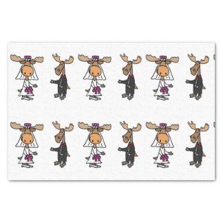 Funny Moose Wedding Tissue Paper