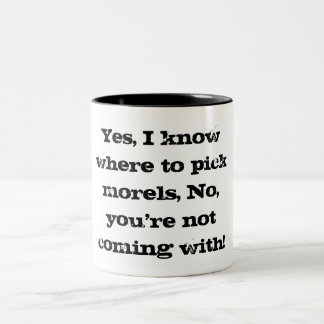 Funny morel hunter's coffee cup