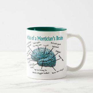 Funny Mortician Gifts Two-Tone Coffee Mug