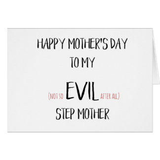Funny Mothers Day Card - Step Mum