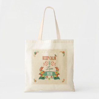 Funny Mothers Day Gift Keep Calm Design Budget Tote Bag
