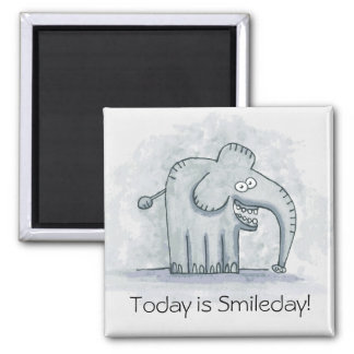 Funny motivational elephant Today is Smileday Magnet