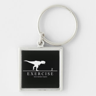 Funny Motivational Exercise Gym T-Rex Key Chain