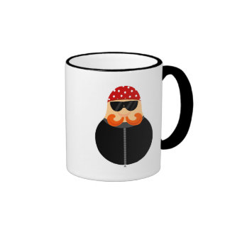 Funny Motorcycle Biker Road Rider Ringer Mug