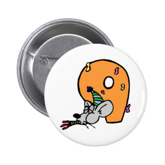 Funny Mouse 9th Birthday Gifts Button