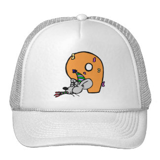 Funny Mouse 9th Birthday Gifts Cap