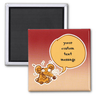 funny mouse inside the hole cartoon customizable magnet