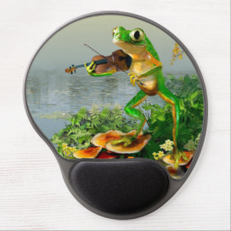 Funny Mouse Pad with Fiddle Playing frog Animation Gel Mousepads