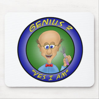 "Funny Mouse Pads:  Genius ?, ""Yes i am"" Mouse Pad"