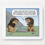 Funny mousepad: Caveman Tweets